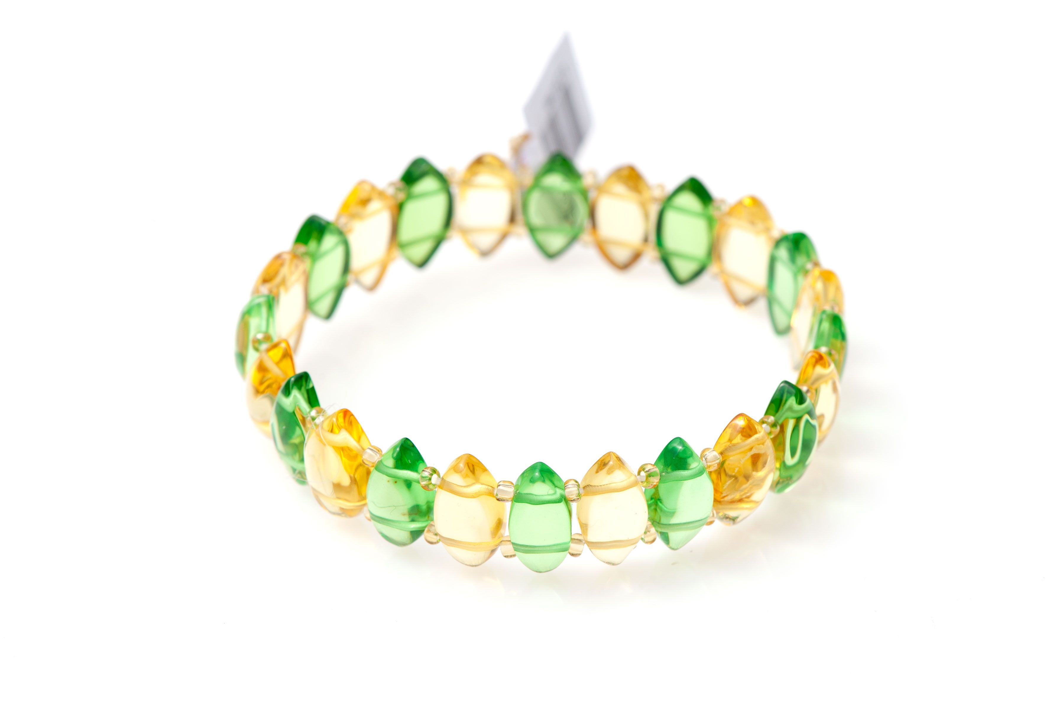 Amber Bracelet made of Caribbean stones with Marquise finish