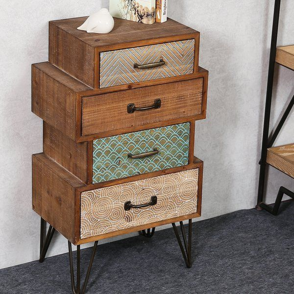 Best Burhardt 4 Drawer Accent Chest Recycled Furniture 400 x 300