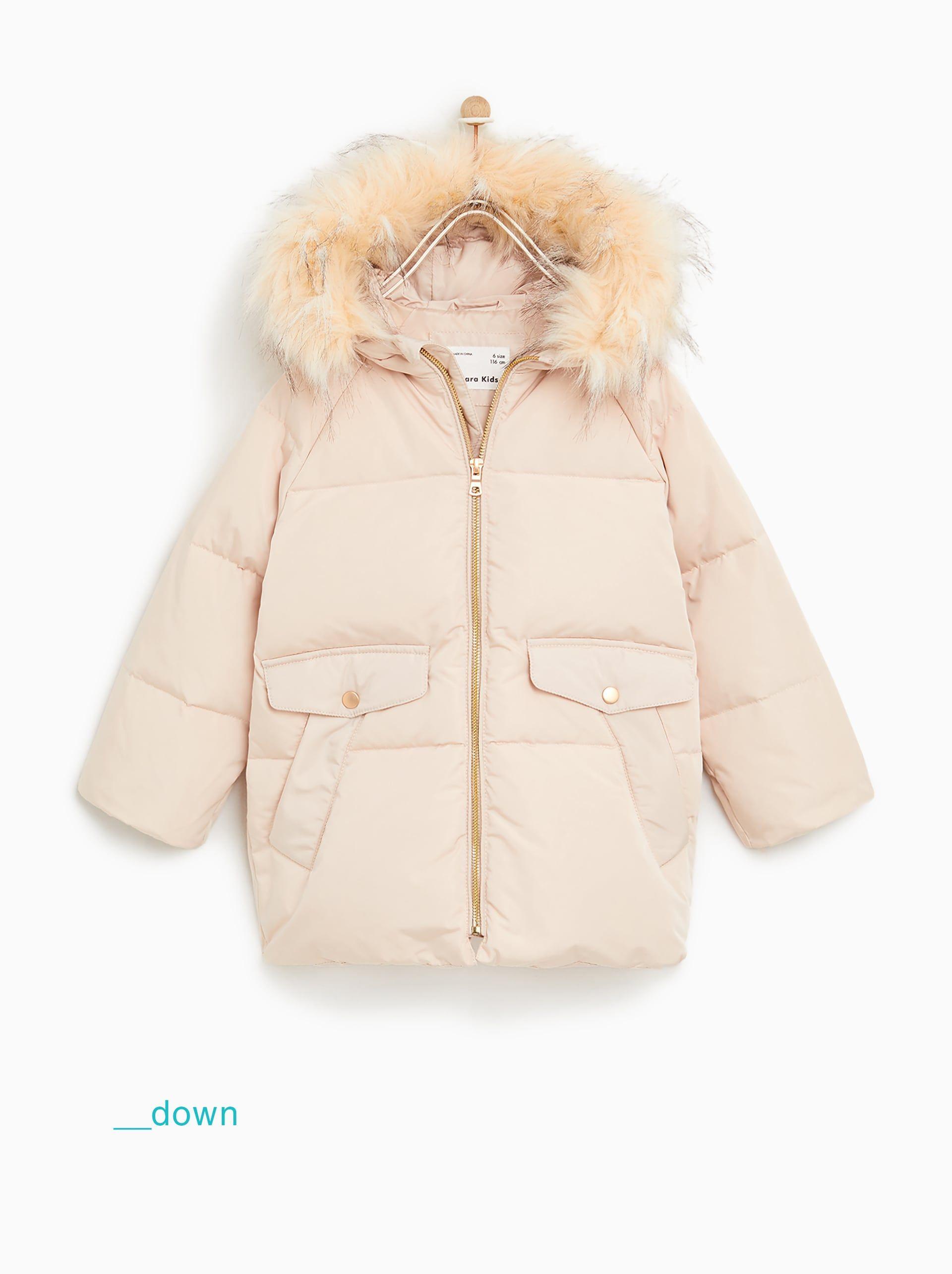 efa5c4cb6 Down puffer jacket with detachable faux fur