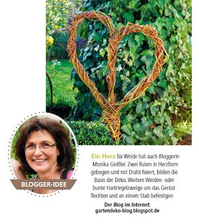 Marvelous Weidenherz Deko erschienen im Mein sch ner Garten Spezial Heft Juli