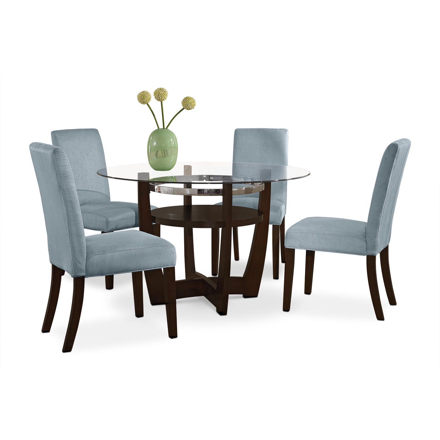Alcove Aqua 5 Pc Dinette American Signature Furniture Dining