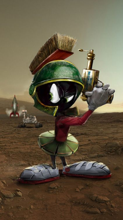 Herochan Marvin The Martian Art By John Gallagher Tumblr Looney Tunes Characters Classic Cartoon Characters Marvin The Martian