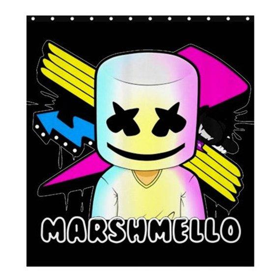 DJ Marshmello Emote Marshmello Head Floss Shower Curtain