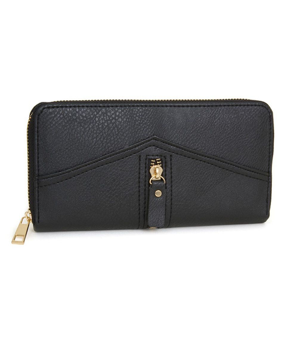 This Rebecca Rifka Black Zipper Wallet By Is Perfect Zulilyfinds