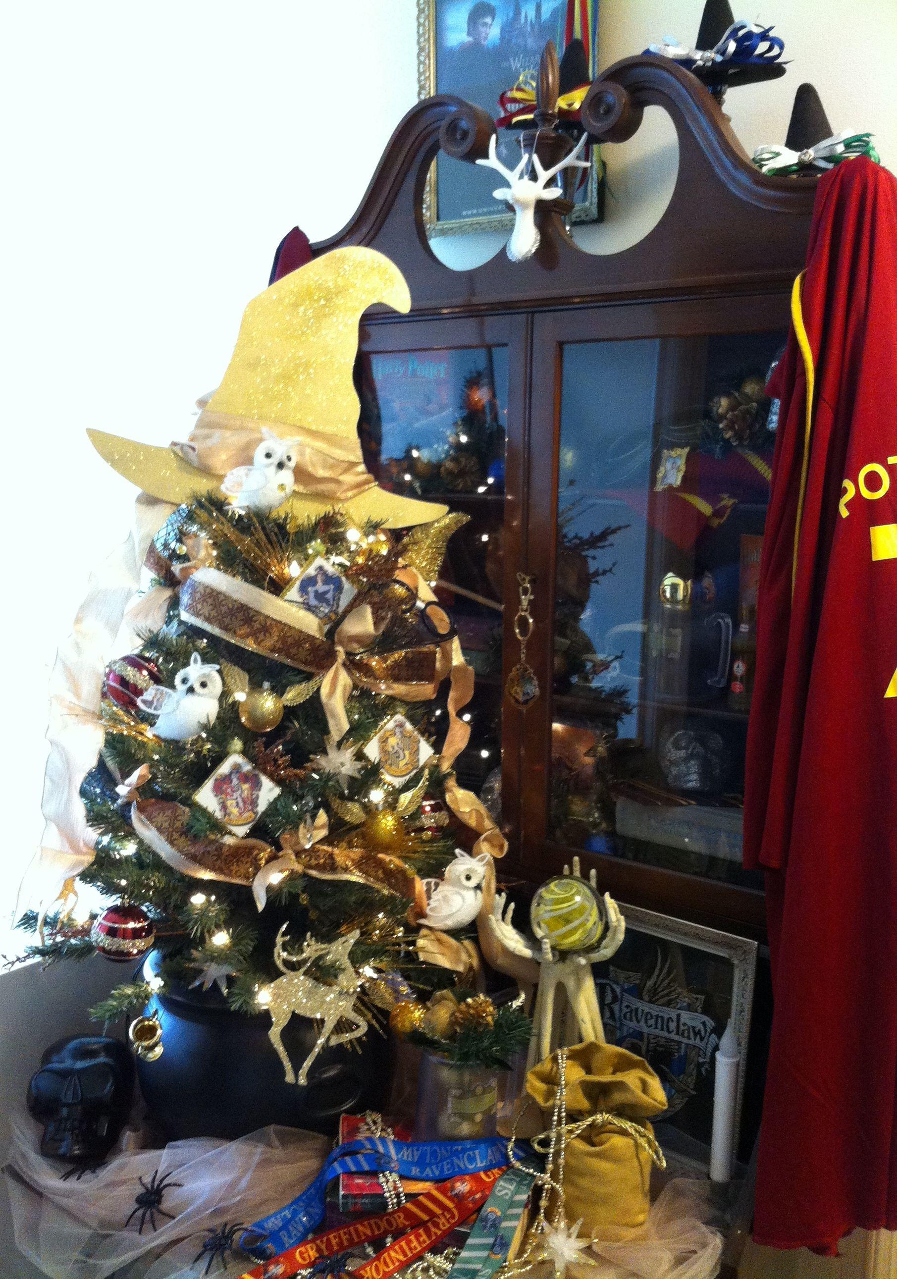 Harry Potter Tree made for Christmas 2015, Teresa Adkins