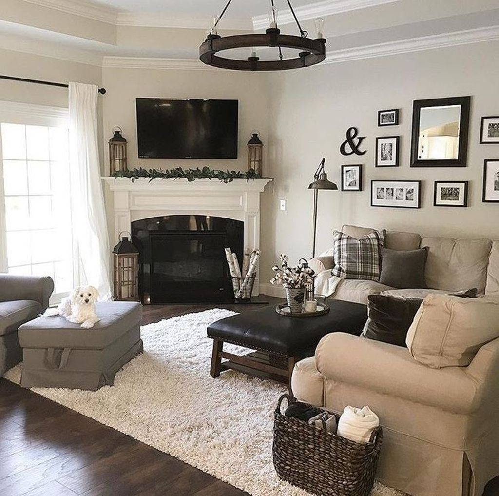 39 Stunning Corner Fireplace Design For Living Room