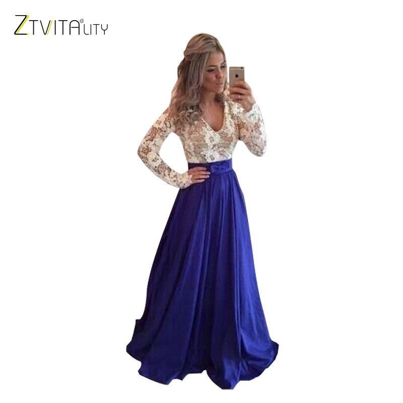 Best Selling Vestido De Festa 2016 Fashion A-Line Lace Patchwork Sleeveless O-Neck Long Dress Sexy Party Dresses Women Vestidos