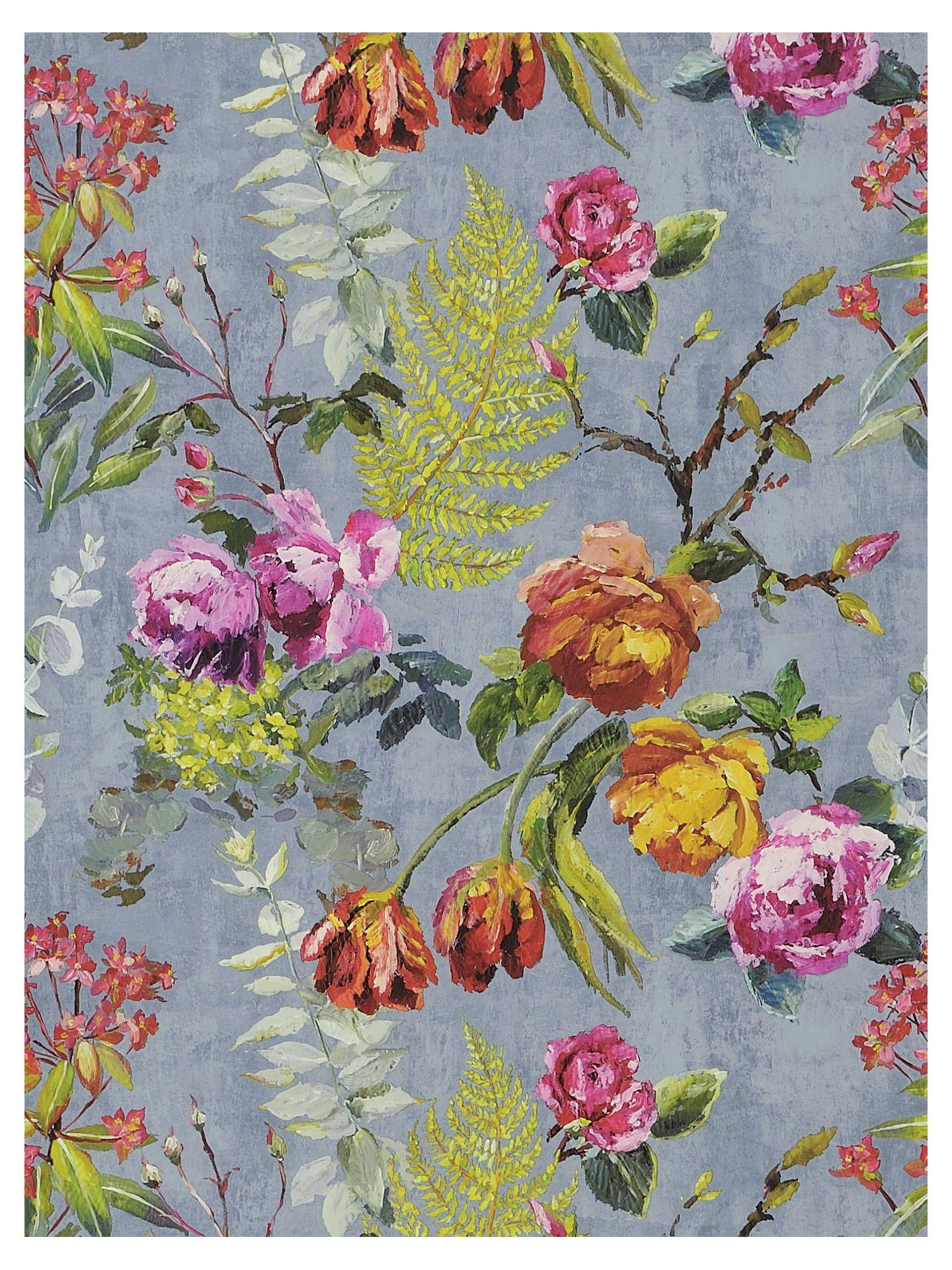 Designers Guild Tulipani Wallpaper, Graphite, PDG678/01