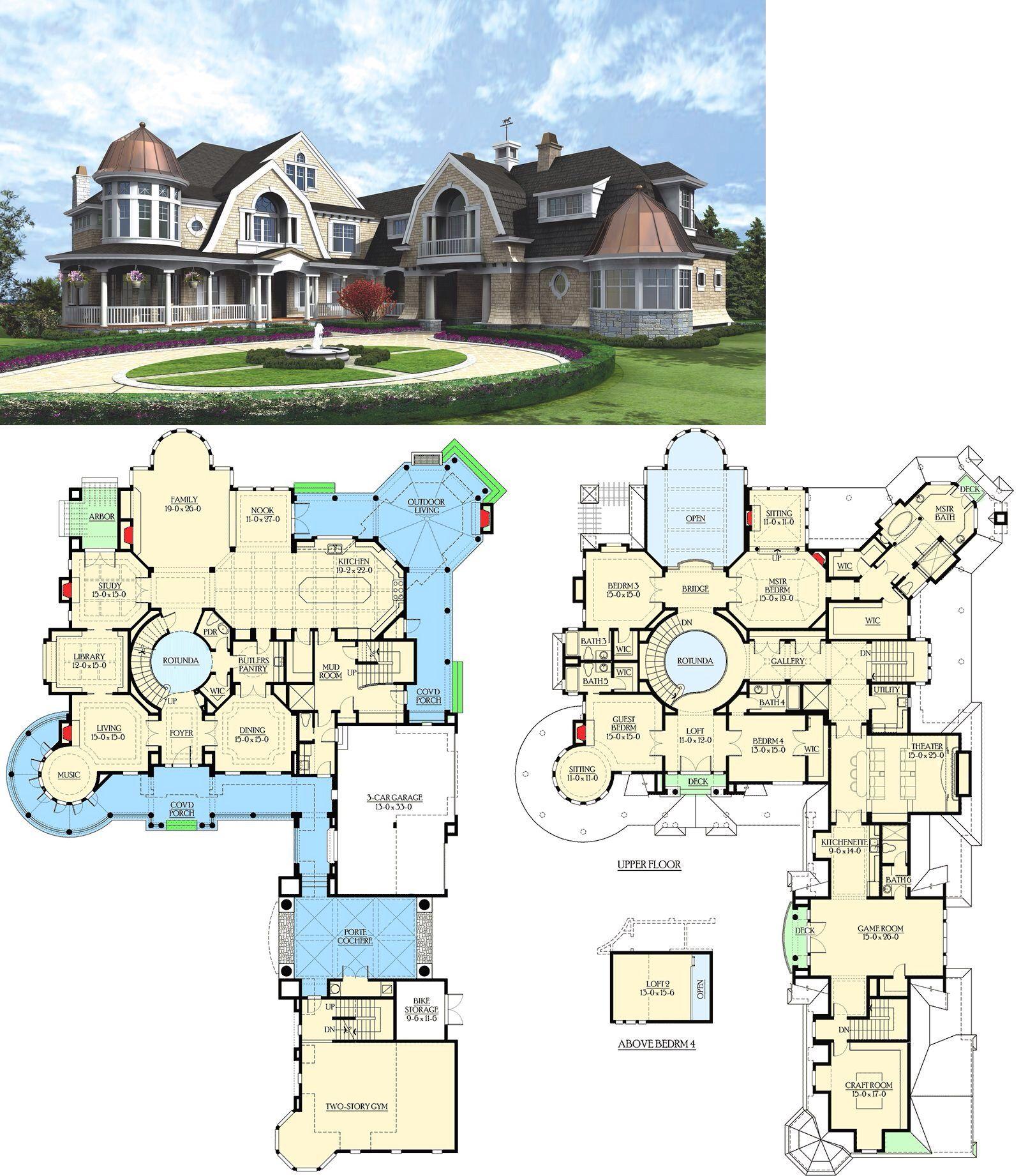 Plan 23220jd Spectacular Hampton Style Estate Mansion Floor Plan House Plans Mansion Luxury House Plans