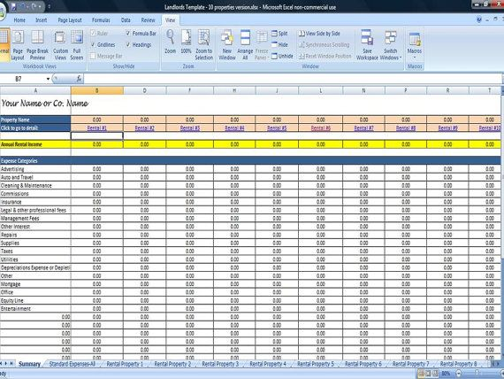 25 Property Tracking Expense and Rental Income Tracking Template – Rental Expense Worksheet