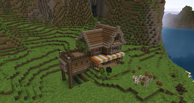 Minecraft 10 カンタータ村 2店舗オープン 大きな家 焼却炉