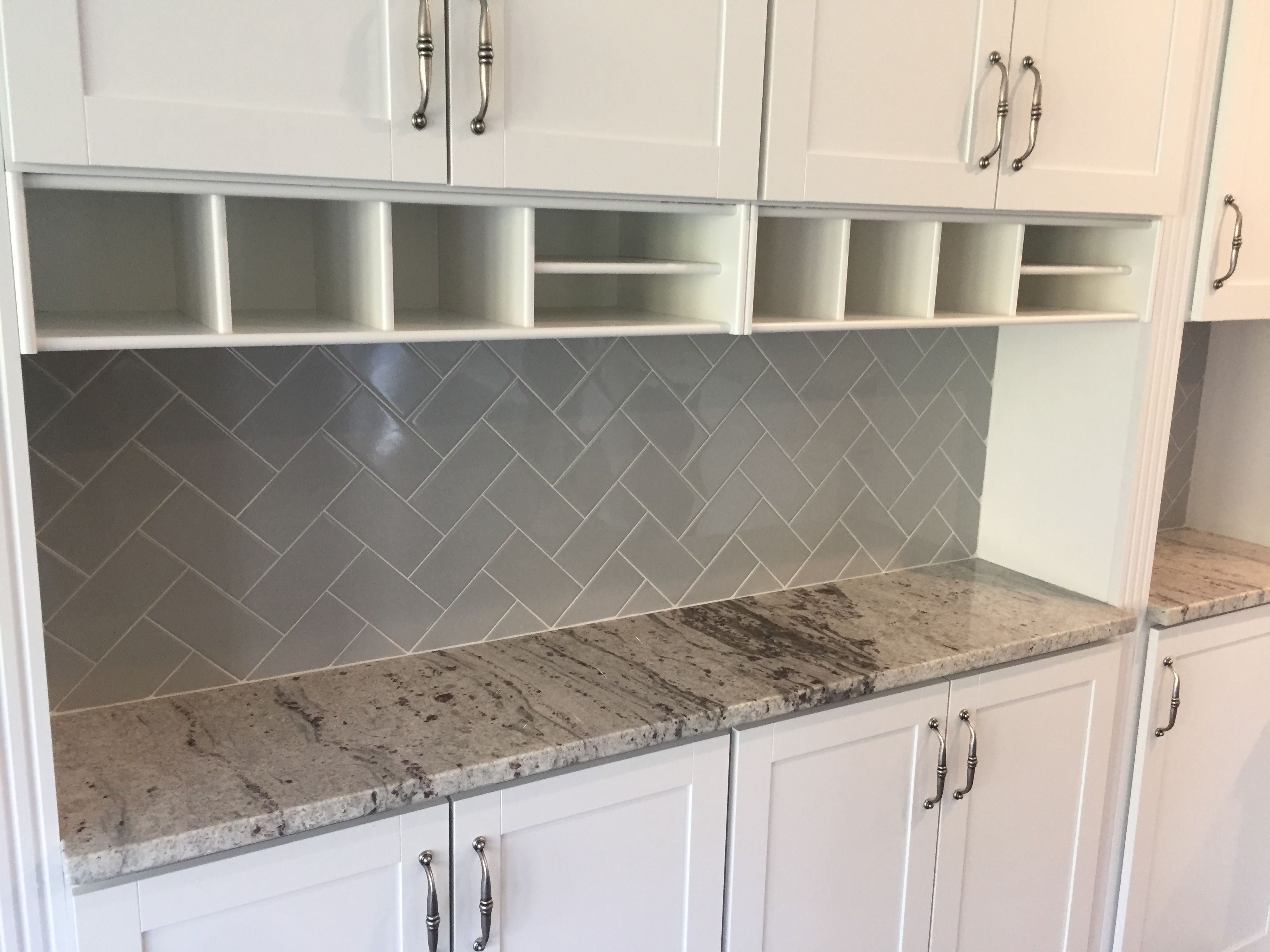 - Rittenhouse Square 3x6 Desert Gray Back Splash Tile In Herringbone