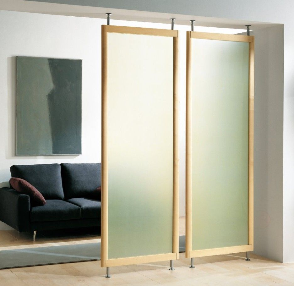 Glass Room Dividers Partitions appealing bookcase and curtains for room dividers ideas: frosted