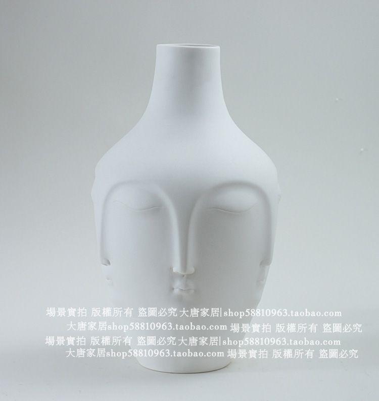 RMB 360 现代陶瓷摆件简约家居装饰品 时尚陶瓷工艺品 三面脸谱摆设-淘宝网