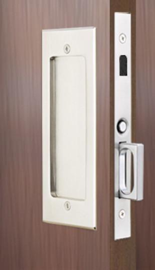 Perfect Dummy Set: Modern Emtek Heavy Duty Pocket Door Mortise Lock Set