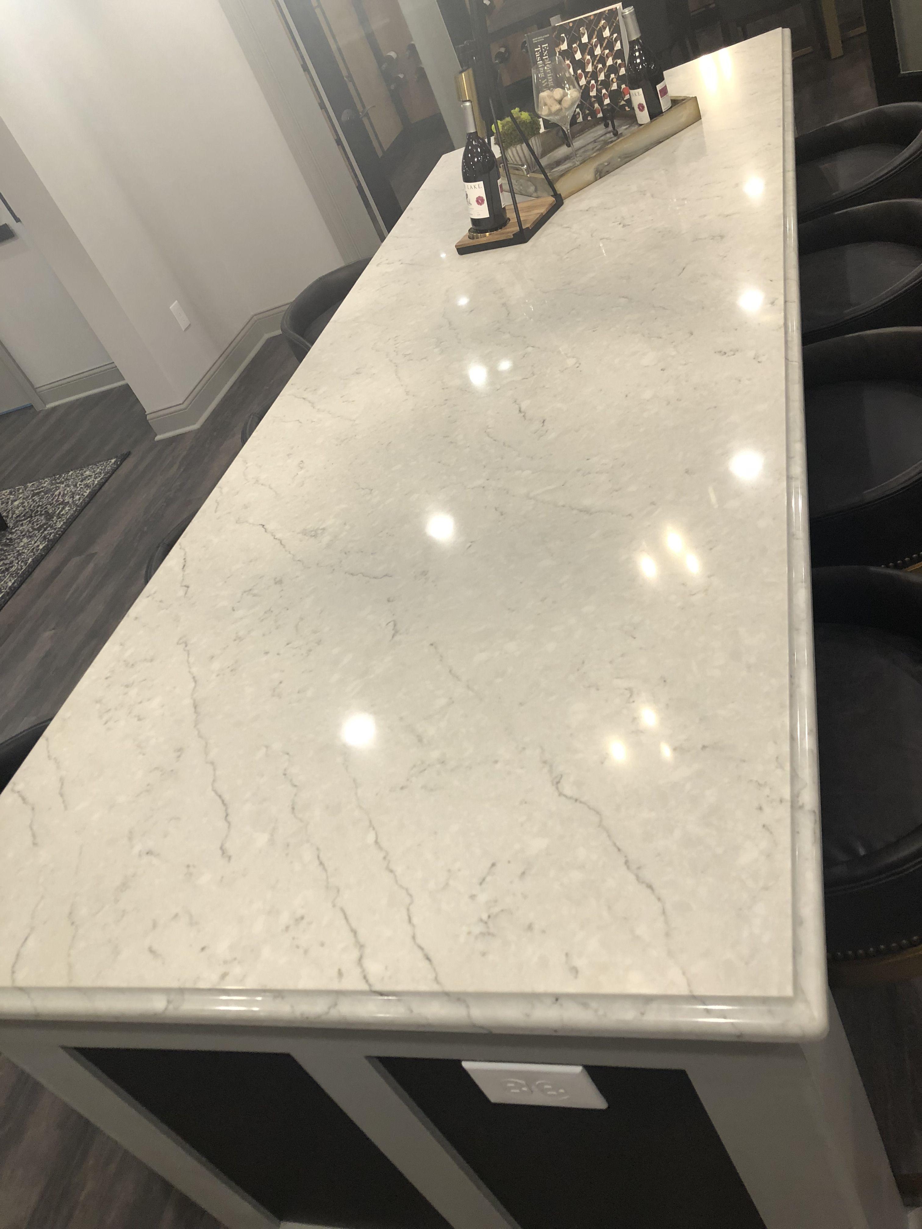 Carrara Caldia Quartz Island Countertops Countertop Materials Kitchen Remodel