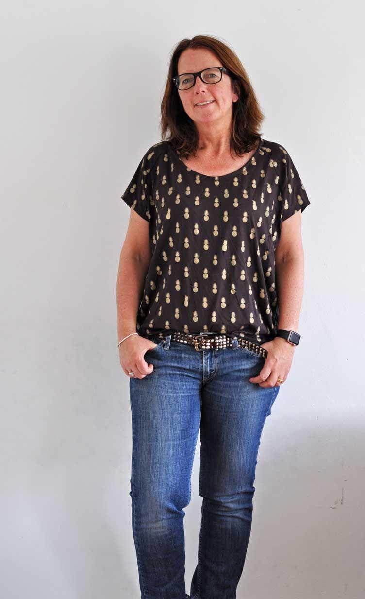 Frau Mia von Schnittreif ist ein Schnittmuster für eine Bluse mit ...
