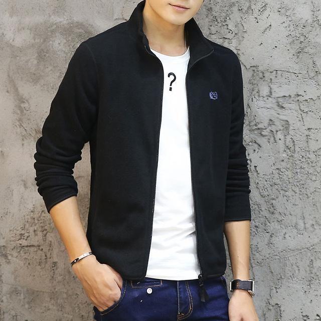 3aa14e7909858 Brand Clothing Jacket Men Fashion Mens Spring Jacket Casual Slim Fit  Outerwear Fleece Men's Jackets and Coats Jaqueta Masculina