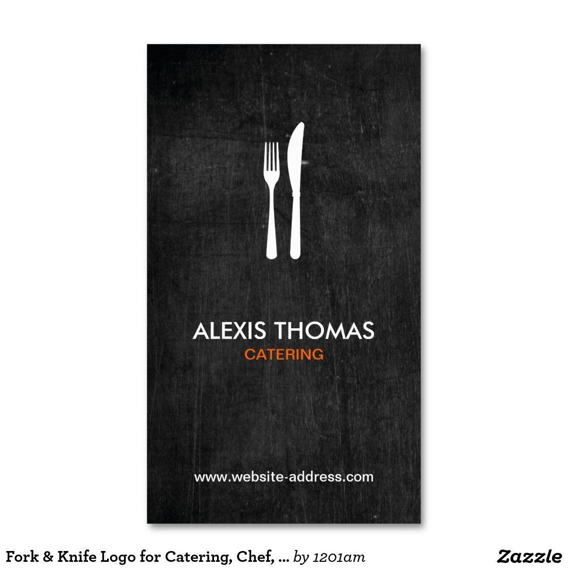 Gabel U Messer Logo Für Catering Koch Visitenkarte