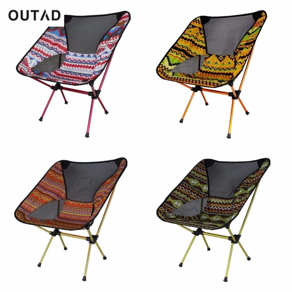 Fishing Chair Carry Bags Fold Up Bed Outad Portable Aluminum Alloy Outdoor Lightweight Foldable Camping Travelling With Backrest And Bag