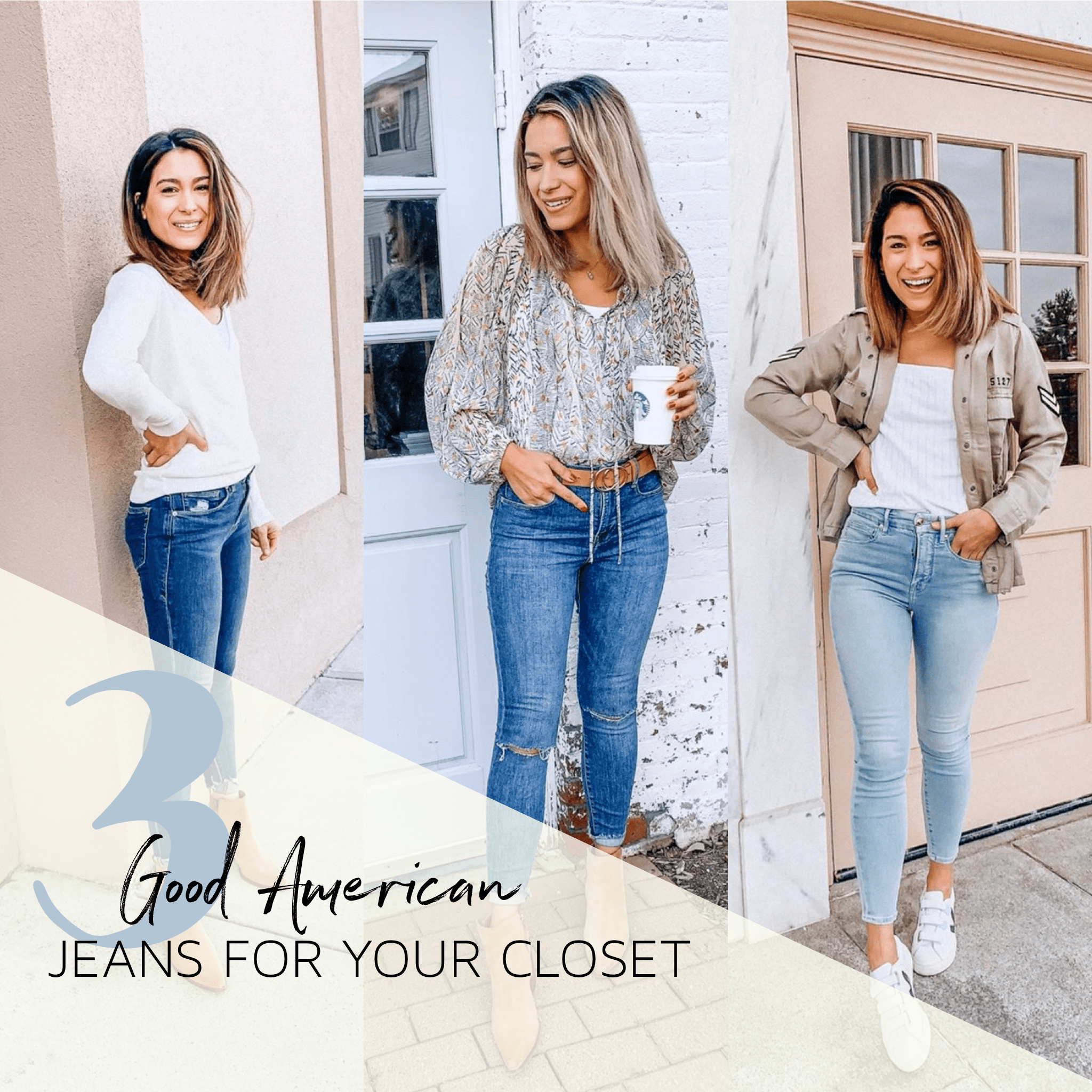 Top 3 Best Good American Jeans to Have in your Closet this Spring Trendy Outfits