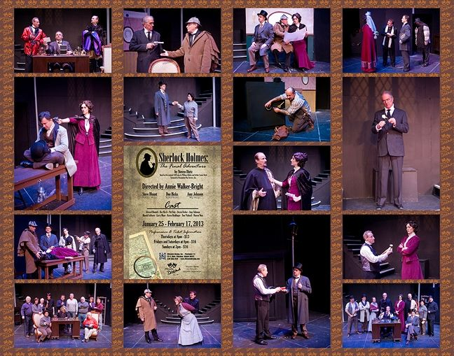 """Sherlock Holmes: The Final Adventure"" opens at Wheaton Drama January 25. Starboard design by Craig Gustafson. Photos by Ken Beach."