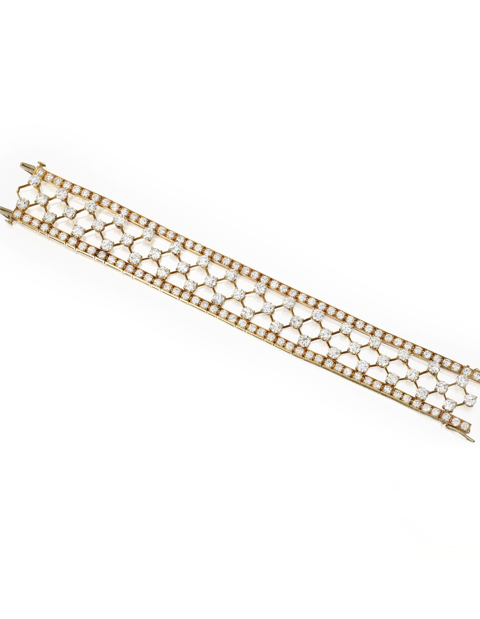 karat gold and diamond usnowflakeu bracelet van cleef u arpels