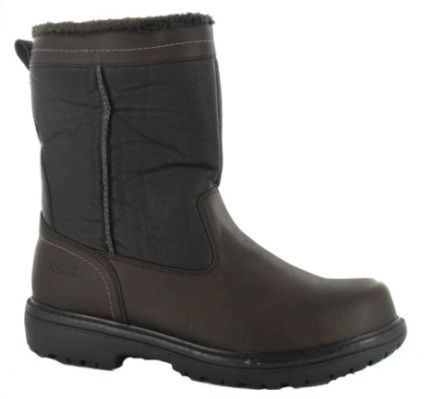 @KhombuFootwear Bell Tower (Dark Brown)  Classic warm slip on boot.    Waterproof   Comfort Insole with Thermolite - Moisture Wicking / Anti-Fungal / Breathable / Fast Drying / Shock Absorbing / Insulated  Plush Fur Linings  Non-Slip Outsole  Cold Rated to –20 °F