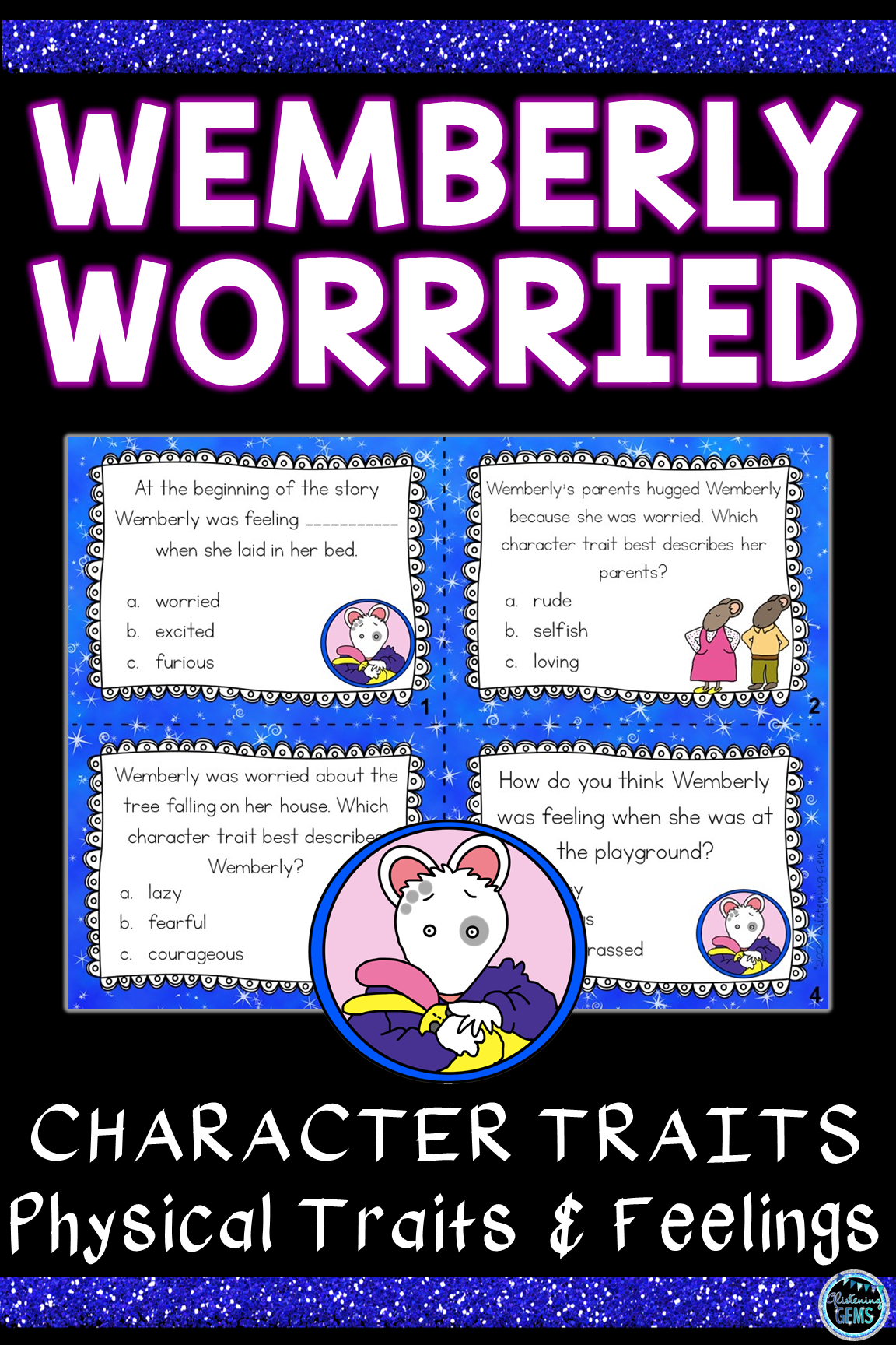 Wemberly Worried Character Traits Physical Traits And