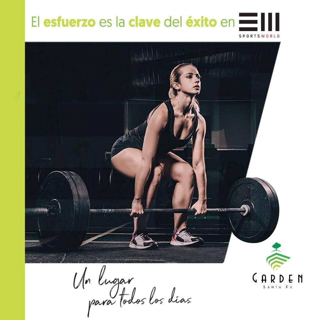 No bajes la meta 🏁, aumenta el esfuerzo 💪 @sportsworldmex  de @gardensantafe  #UnLugarParaTodosLosDi...