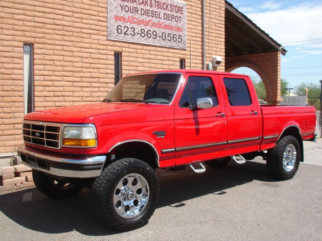 1997 ford f250 7 3l quad cab short bed so rare and