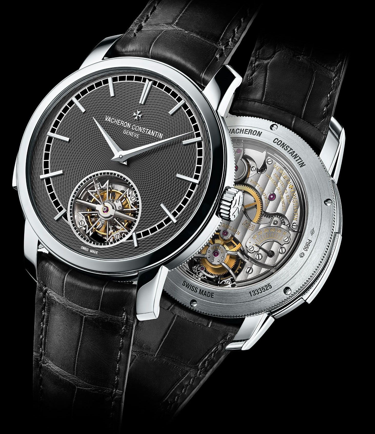 Vacheron Constantin Traditionnelle Minute Repeater Tourbillon Watch Platinum Case Perpetuelle Timepieces Tourbillon Watch Luxury Watches For Men Luxury Watches