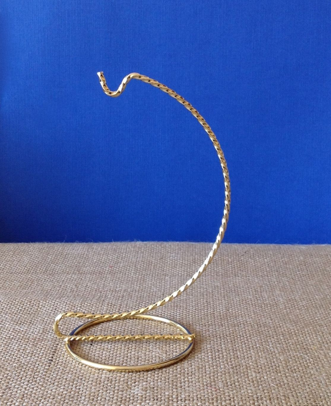 Brass ornament stand - Twisted Brass 6 Ornament Stand