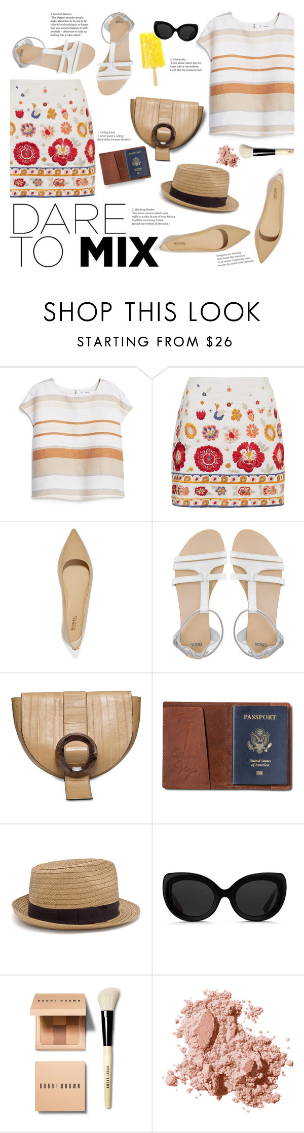 """""""Mixer"""" by igedesubawa ❤ liked on Polyvore featuring MANGO, Topshop, MICHAEL Michael Kors, ASOS, Calvin Klein, TOMS, 3.1 Phillip Lim, Bobbi Brown Cosmetics, contest and contestentry"""