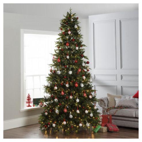 dobbies 10ft pre lit christmas tree loch tay