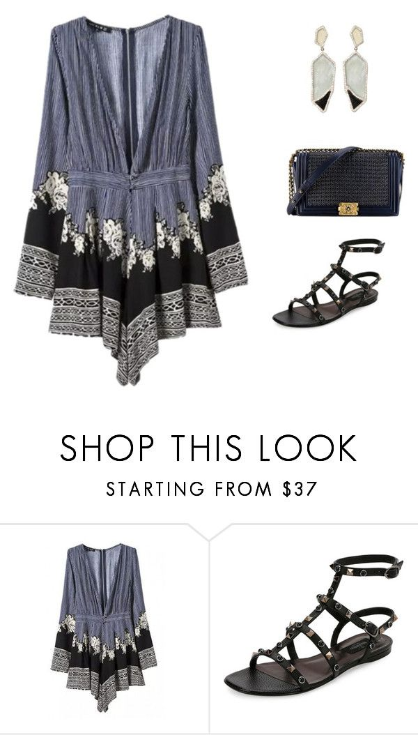 """Sem título #3867"" by tatibr ❤ liked on Polyvore featuring WithChic, Valentino, Chanel and Monique Péan"