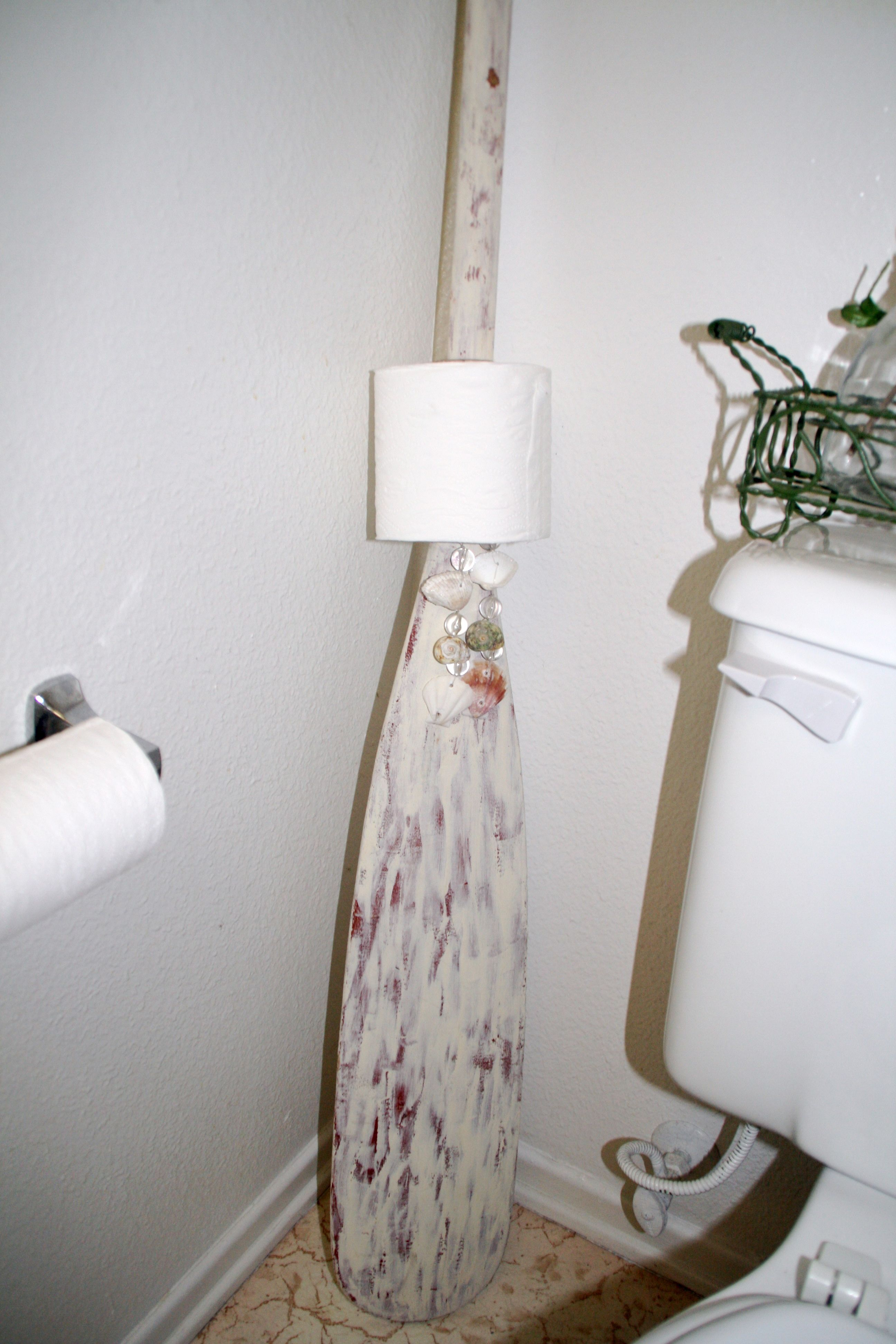 Old Oar Used As Toilet Paper Holder With Images Diy Toilet