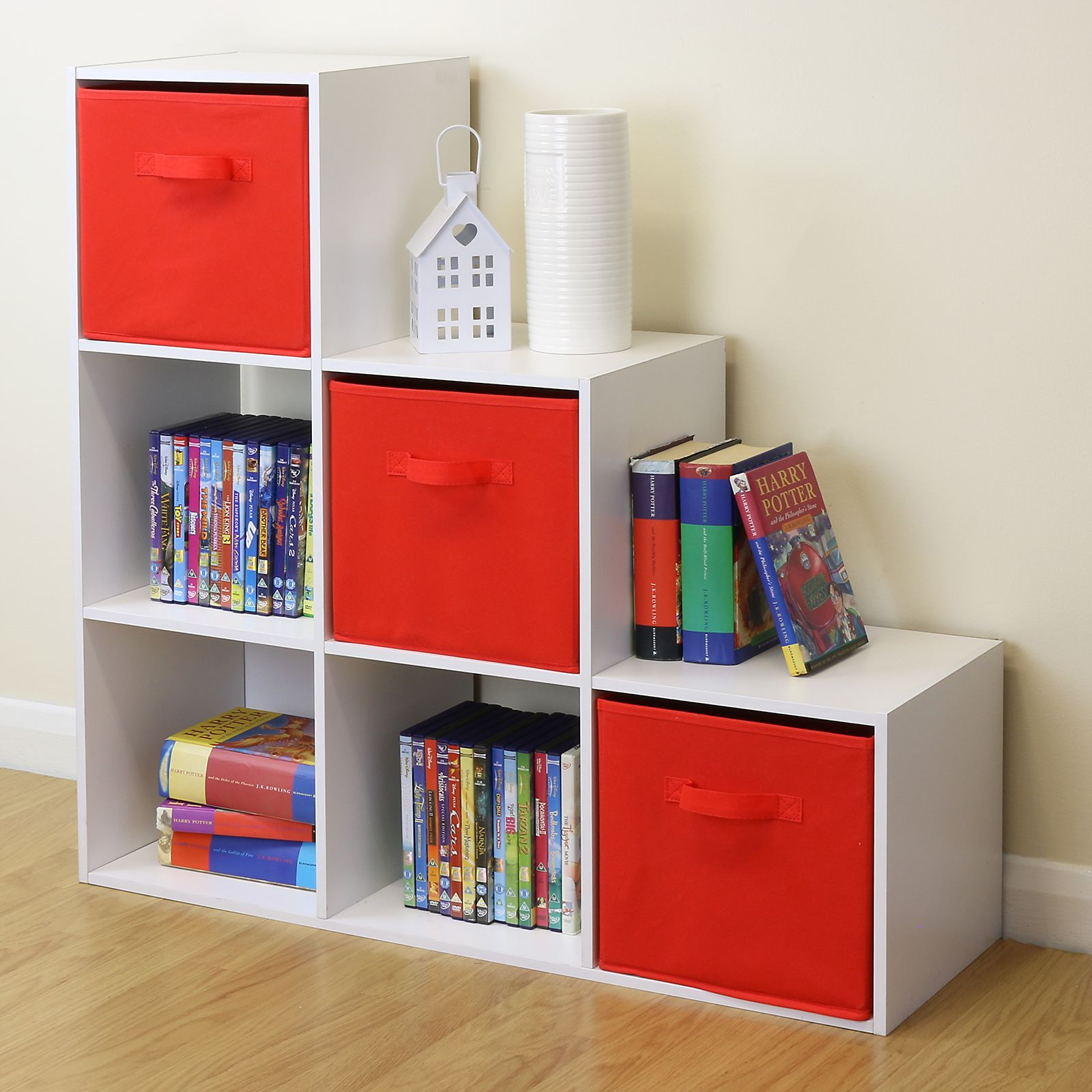 White 6 Cube Kids Toy/Games Storage Unit Girls/Boys Bedroom