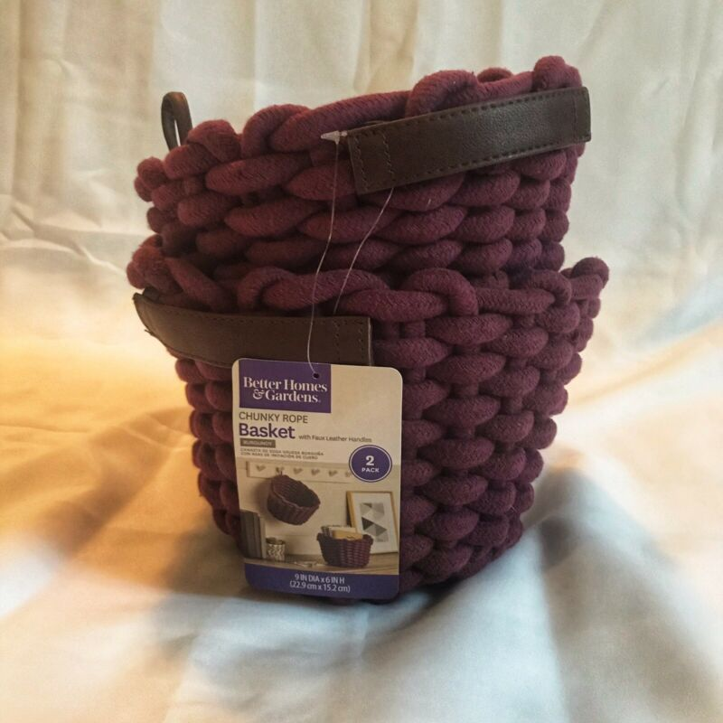 e158a1d18ade51cc6896aaa706de102c - Better Homes And Gardens Chunky Rope Basket