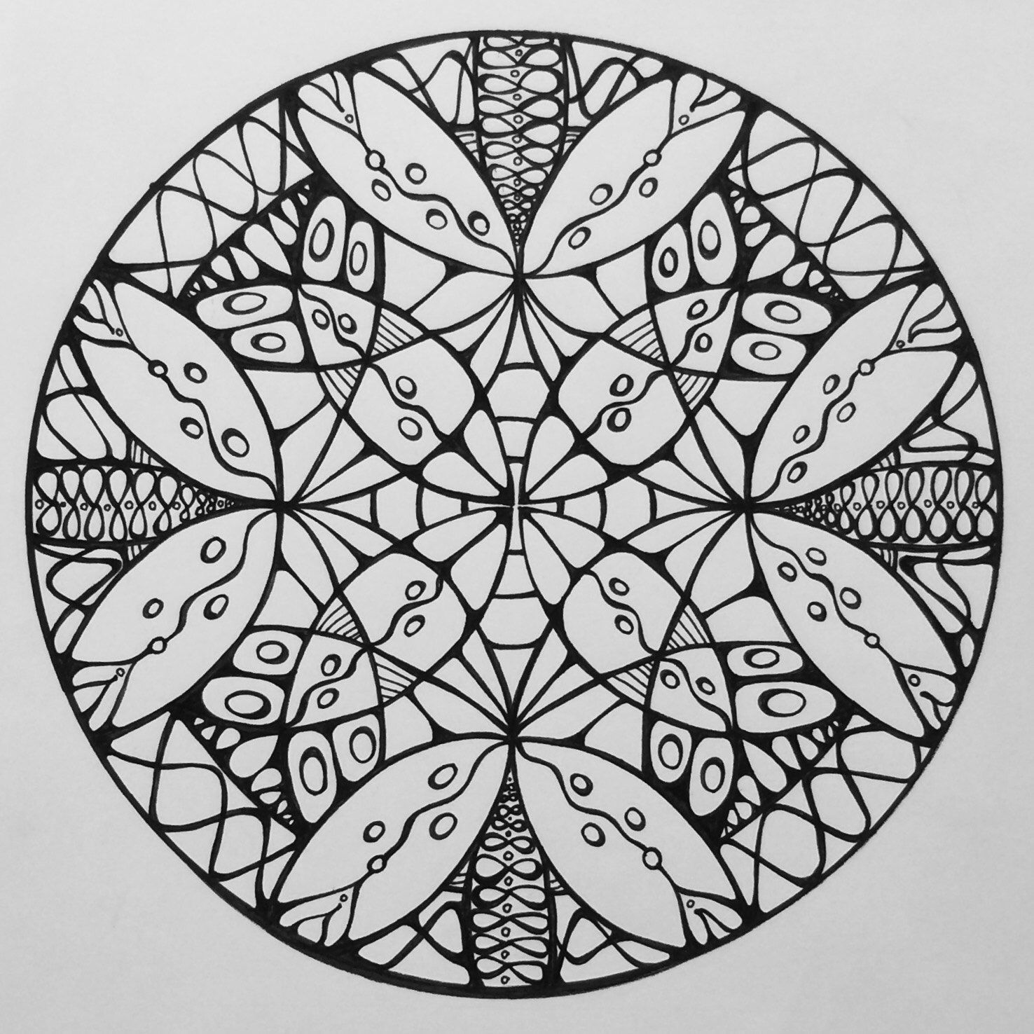Samdala 009 Mandala Design To Color Inspired By Sacred Geometry