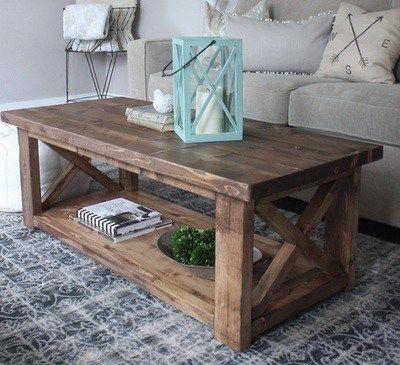 Rustic Furniture, Custom Rustic Furniture More   Coffee Table DIY
