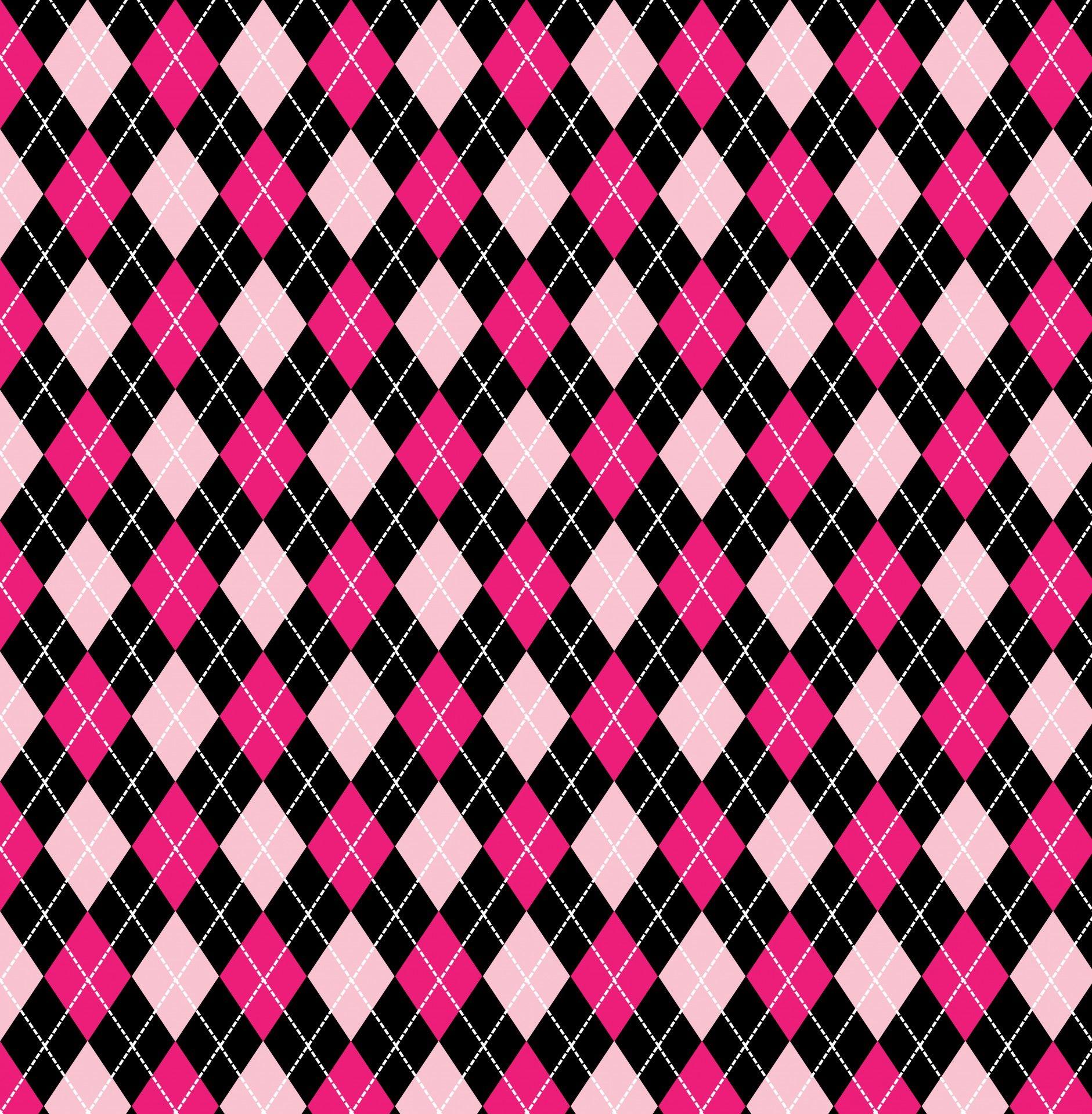 Argyle Argyle Pattern Pink Black By Karen Arnold Argyle Pattern Pattern Wallpaper