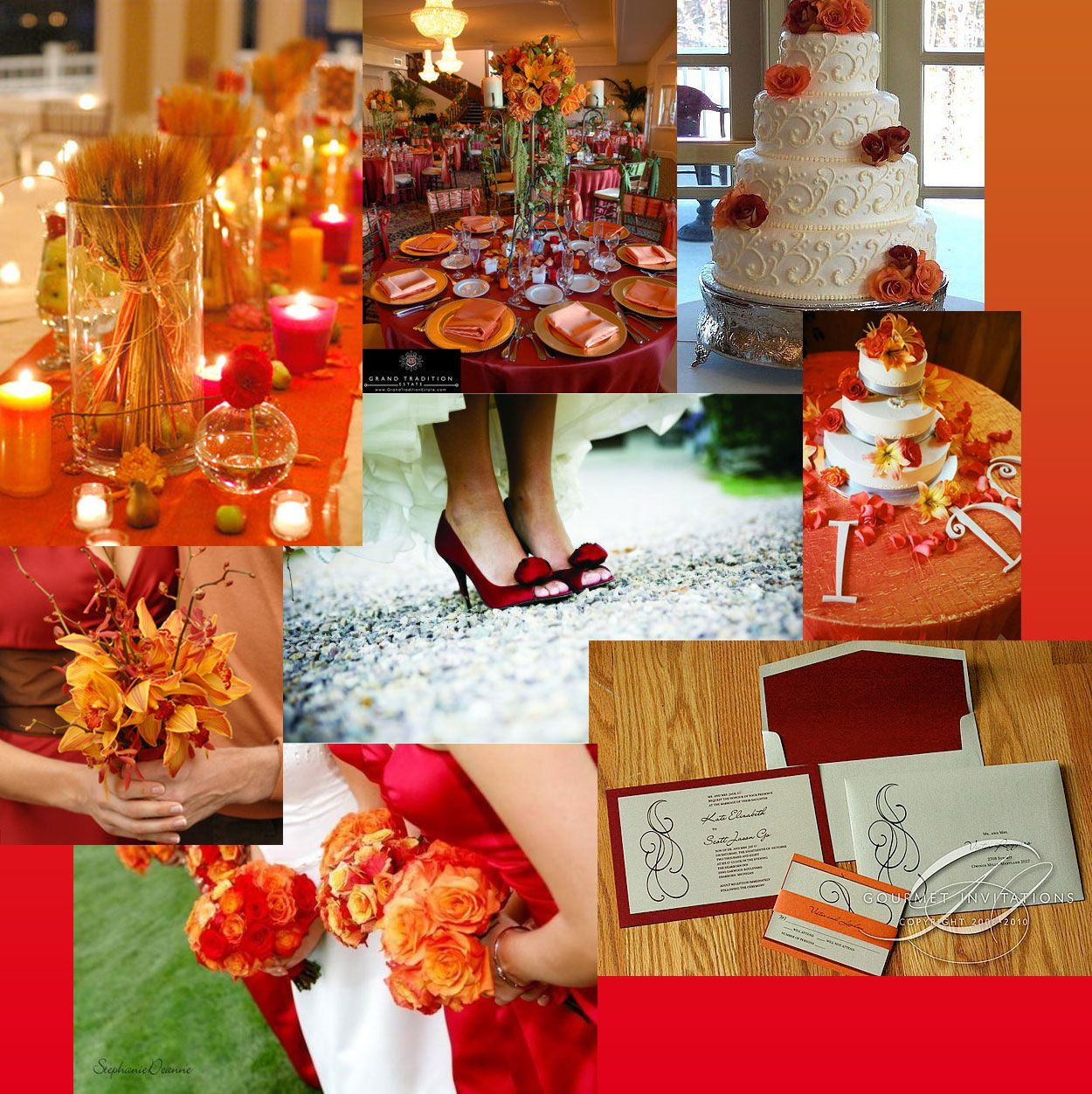 Need A Color That Isn T Safe Wedding Bronze Gold Red 2526orange Vibrant