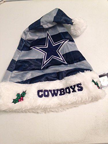 Dallas Cowboys Christmas Hat.Nfl Dallas Cowboys Striped Santa Hat Blue Football Hats