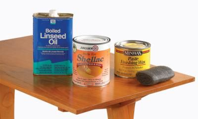 Complete finish in a day - linseed oil, shellac, paste wax