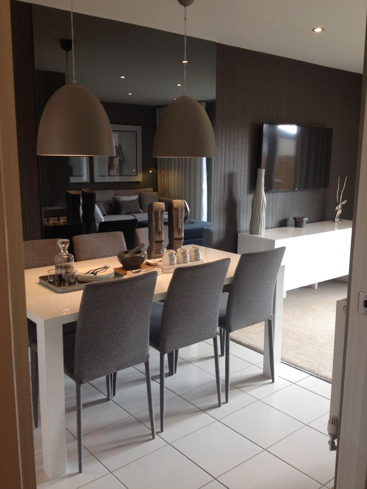 Roma show home, Hull. Stylish kitchen dining table.   Stylish ...