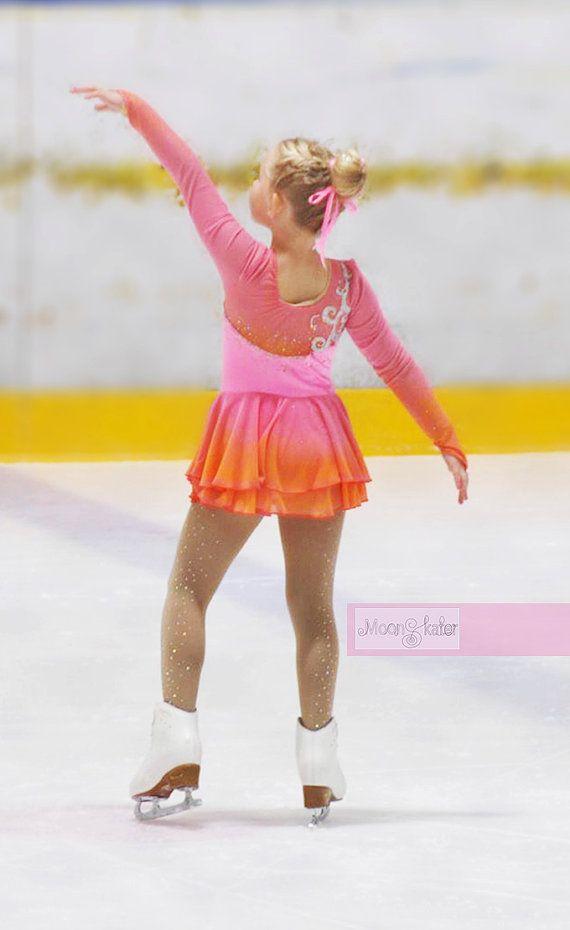 Music Box Ice Ballerina Kids Figure Skating Dress By