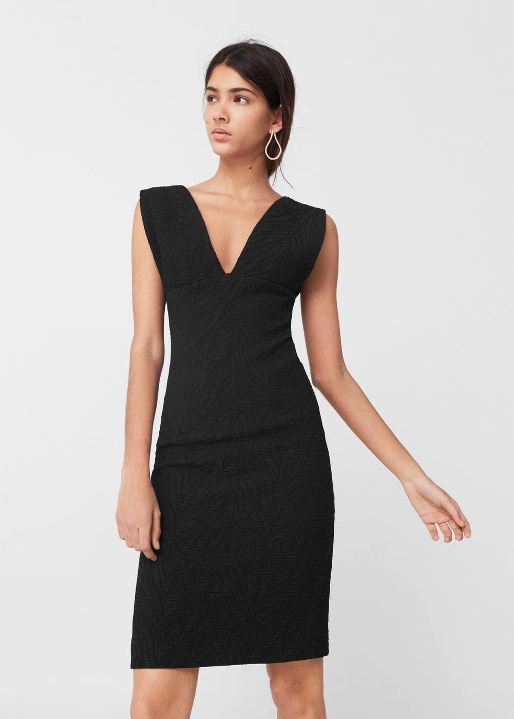 Vestito nero corto mango