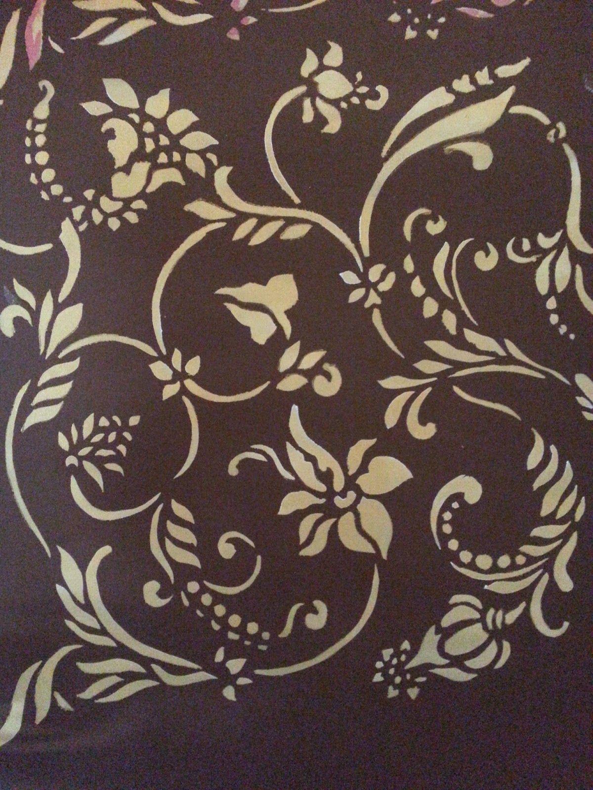 Interiors · Wall Painting Flower Stencils ...