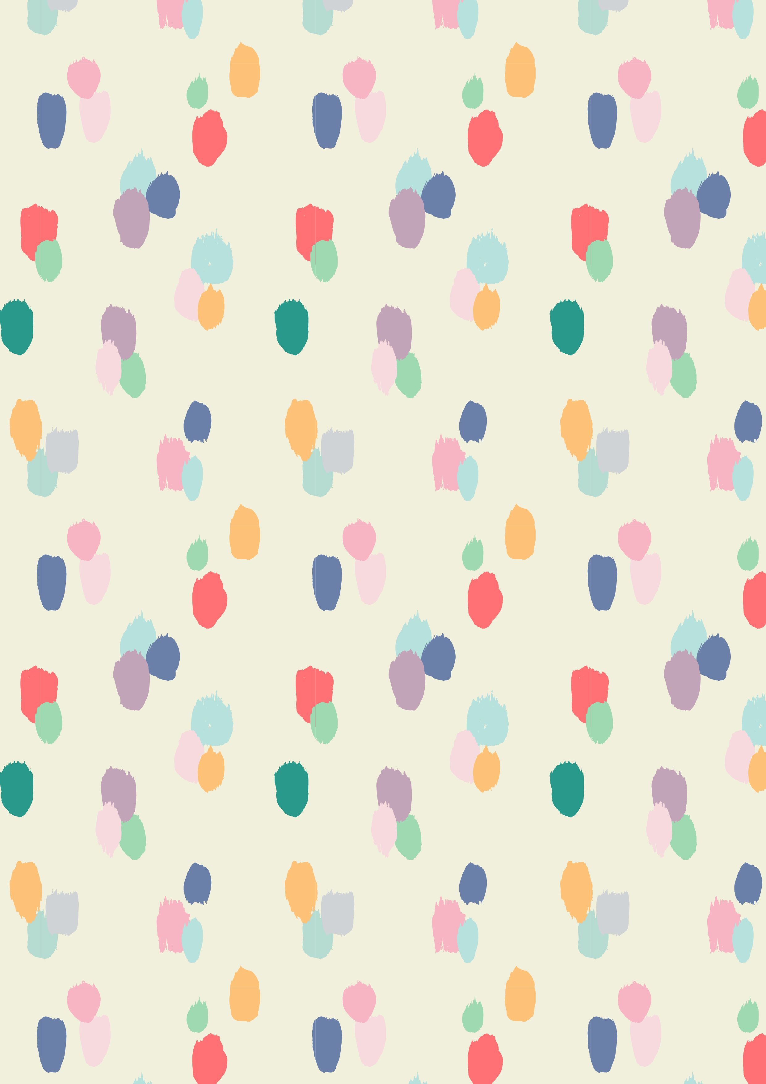 Painted dots pattern a w15 by studio sjoesjoe for Childrens patterned fabric